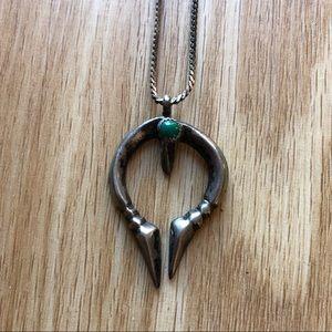 VINTAGE Handmade Sterling Brutalist Necklace